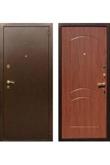 """Входная металлическая дверь Rex 1А Латунь """"Орех тисненый"""""""