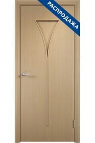 Межкомнатная Дверь Тип С-04 беленый дуб