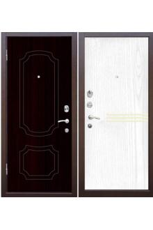 Входная металлическая дверь Зетта Стандарт 3 орех светлый