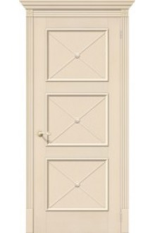 Межкомнатная шпонированная дверь Карл III ПГ ваниль