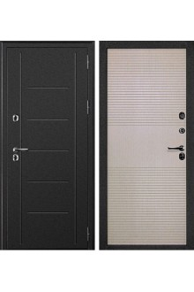 Входная металлическая дверь с терморазрывом Дверной Континент Термаль  белёный дуб