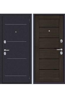 Входная металлическая дверь Техно 2 орех рифленый