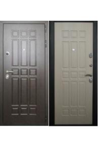 Входная  металлическая дверь Лекс  8 Сенатор беленый дуб