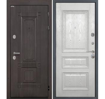 Входная  металлическая дверь Интекрон Италия-5 жемч. ясень ( шпон) Валенсия 2