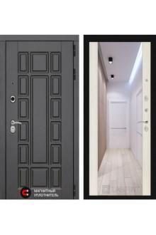 Входная металлическая дверь Лабиринт NEW YORK с зеркалом (Сандал белый)