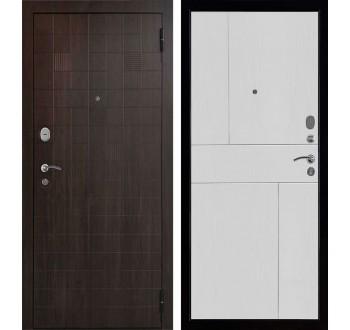 Входная металлическая дверь Вектор Статус Fusion  (цвет: Орех тёмный-Ясень белый)