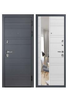 Входная металлическая дверь Графит 3К с Зеркалом