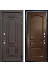 Входная  металлическая дверь Интекрон Италия-1 дуб Бургундский  ( шпон)