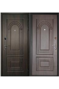Входная металлическая  дверь дверной Континент  Флоренция Темный орех