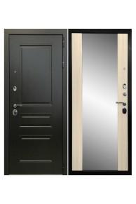 Входная  металлическая дверь Ратибор Монолит 3К с зеркалом Сандал белый