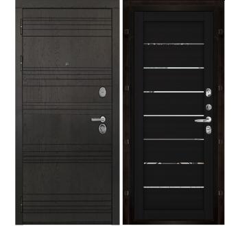 Входная металлическая дверь Министр Шоколад -велюр шоко