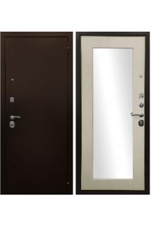 Входная металлическая дверь Ратибор Оптима 3К Зеркало Лиственница беж