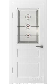 Межкомнатная дверь Честер эмаль стекло 5