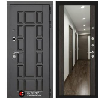 Входная металлическая дверь Лабиринт NEW YORK с зеркалом (Венге)