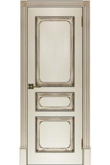 Межкомнатная двери Классика-5  пг эмаль слонова кость с патиной