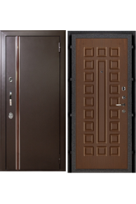 Входная дверь с терморазрывом Норд  Муар искра - орех стандарт.