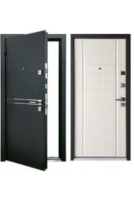 Входная  дверь Мастино СТРАДА Чёрный шёлк / Шамбори светлый