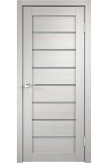 Межкомнатная дверь с экошпоном Темпо 11 велюр белый ясень