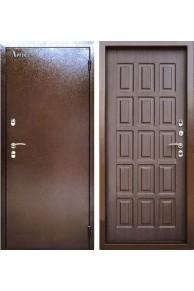 Металлическая дверь с Терморазрывом Аргус Тепло-4  медный антик/венге