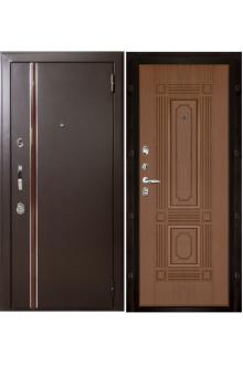 Входная  металлическая дверь Норд  ( Чиж) тёмный орех с терморазрывом