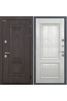 Входная  металлическая дверь Интекрон Италия-5 жемч. ясень ( шпон)