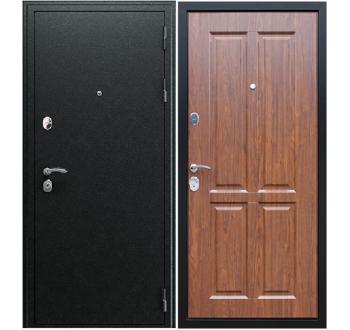 """Входная металлическая дверь АСД """"Прометей 3D"""" Орех темный"""