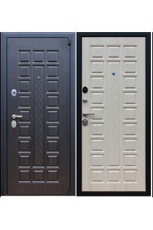 Входная  металлическая дверь  АСД Консул венге-беленый дуб.