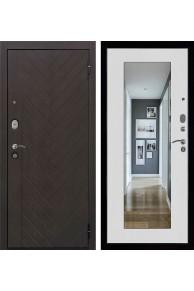 Входная металлическая дверь Вектор Зеркало Maxi Лофт Z ( Ясень белый)