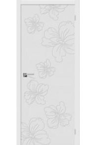 Межкомнатная окрашенная дверь Граффити-8 белый
