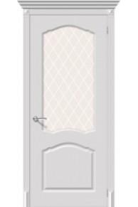 Межкомнатная окрашенная дверь Танго ПО белый