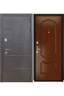Входная металлическая дверь Luxor 24 Венеция (дуб сандал)