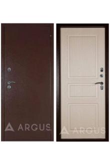 Металлическая дверь с Терморазрывом Аргус Тепло-5 медный антик/беленый