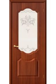 Межкомнатная дверь ПВХ  Сицилия Итальянский орех стекло