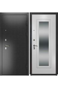 Входная металлическая дверь Luxor-2 (ПВХ белый ясень + зеркало)