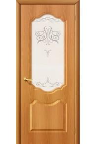 Межкомнатная дверь ПВХ  Сицилия Миланский орех стекло