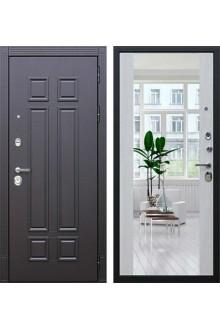 Входная металлическая дверь АСД «Виват с зеркалом » (Сосна белая)