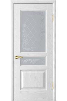 Межкомнатная дверь Атлант-2 (ясень белая эмаль до)
