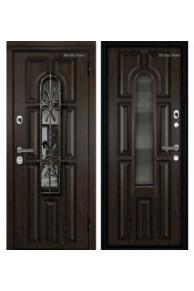 Входная металлическая дверь МетаЛюкс Элит СМ60 Рыжий винорит+ патина
