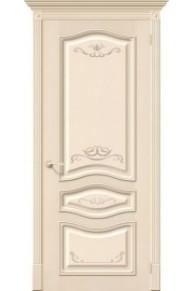 Межкомнатная шпонированная дверь Леона Деко ПГ Д-15 Ваниль