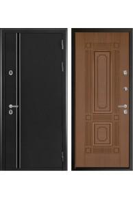 Входная  металлическая дверь Норд 2  ( Чиж) тёмный орех с терморазрывом