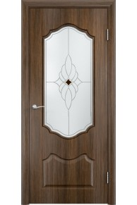 Межкомнатная дверь Венера до венге мелинга «Сатинато ромб»