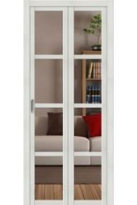 Складная  межкомнатная дверь с Экошпоном Твигги V4 Crystalline Bianco Veralinga