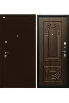 Входная металлическая дверь Ратибор Оптима 3К орех бренди