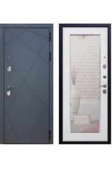 Входная металлическая дверь Rex 13 с зеркалом ( Силк сноу )