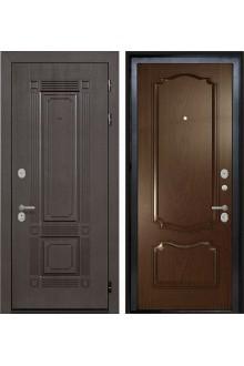 Входная  металлическая дверь Интекрон Италия-2 дуб Бургундский  ( шпон)