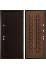 Входная дверь с терморазрывом Норд 2  Муар коричневый - орех стандарт.