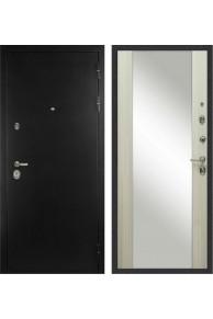 Входная металлическая дверь Сударь С-506 Оптима (Чёрная шагрень / Дуб филадельфия крем)