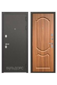 Входная металлическая  дверь Бульдорс STANDART 90 орех лесной 9SD-4