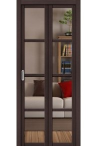 Складная дверь с Экошпоном Твигги V4 Crystalline Wenge Veralinga