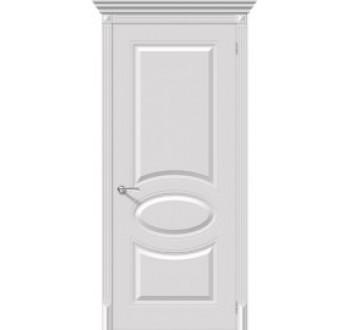 Межкомнатная окрашенная дверь Джаз пг белый